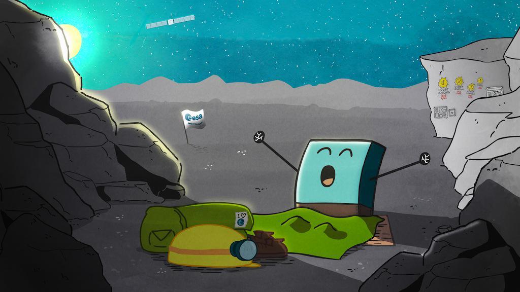 Philae đã tỉnh giấc. Hình từ trang Twitter @ESA_Rosetta.