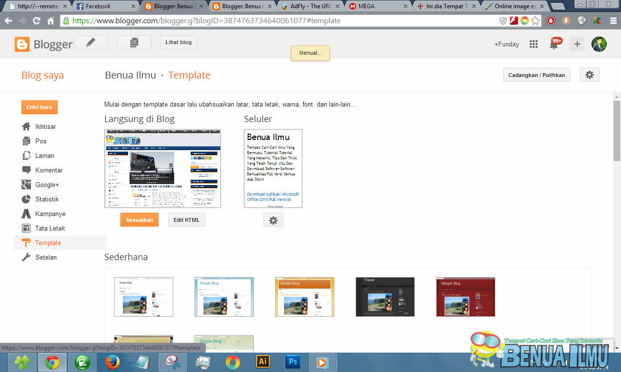 Template Blog Selalu loading