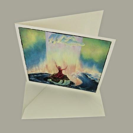Atelier for Hope Kunstkaart incl. enveloppe, afbeelding schilderij wees niet bang, bijbelse kaart