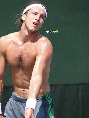 Juan Monaco Shirtless at Miami Open 2011