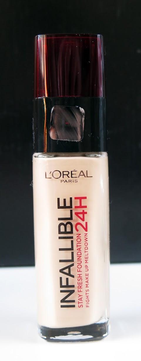 Loreal Infallible Stay Fresh Foundation 24H Skysta pudra 120 Vanilla