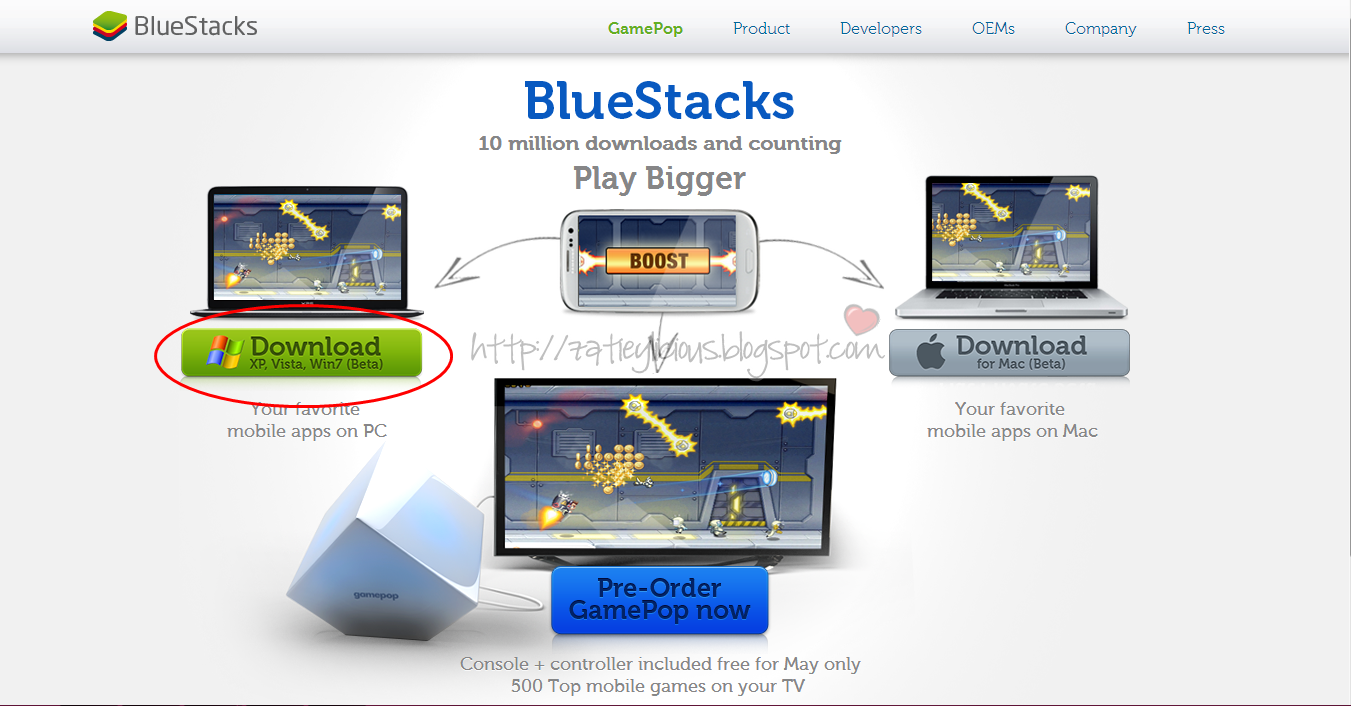 программа bluestacks для vista