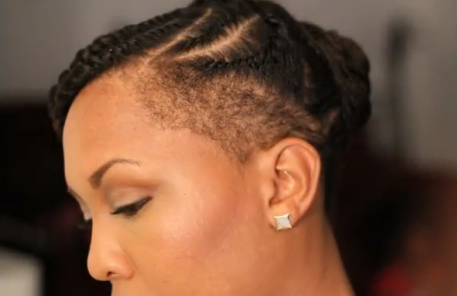 Tapered Natural Hair with Shaved Sides
