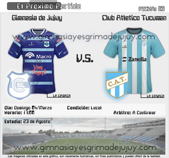 Gimnasia de Jujuy vs Atlético Tucumán