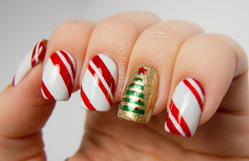 manicurator: Digit-al Dozen\'s Holiday Week - Christmas Nail Art