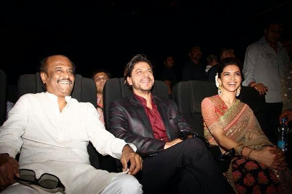 Rajinikanth, ShahRukh Khan & Deepika Padukone at the music launch of Kochadaiiyaan!