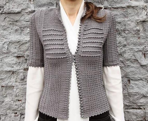 szydelkowy sweter