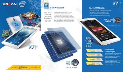 Harga Advan x7 Spesifikasi Kelebihan dan Kekurangan