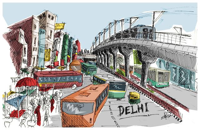 Delhi Metro sketch