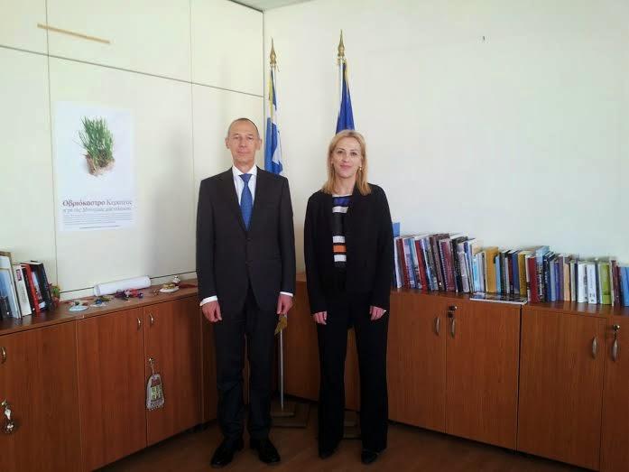 Συνάντηση της Περιφερειάρχη Αττικής, Ρένας Δούρου με τον πρέσβη της Ρωσικής Ομοσπονδίας, Αντρέι Μάσλοφ
