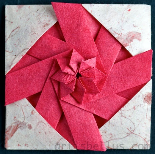 Origami Decorations: Framed Pinwheel