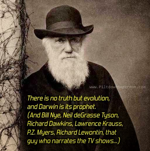 Charles Darwin, creation science, www.piltdownsuperman.com, The Question Evolution Project