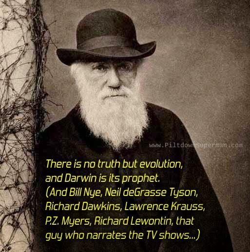 Charles Darwin, creation science, www.piltdownsuperman.com, The Question Evolution Project