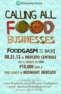 Call for Food Businesses - FOODGASM III