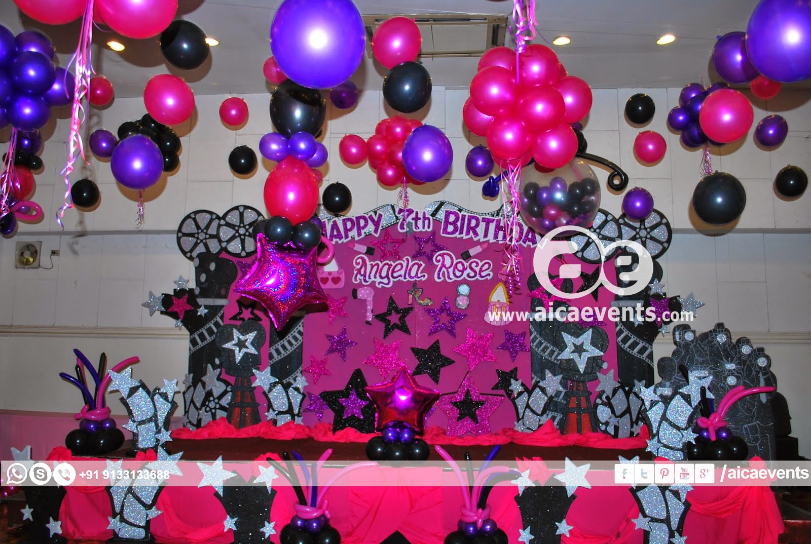 aicaevents stars theme birthday party decorations