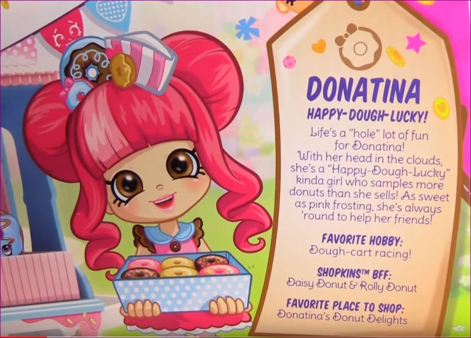 ❤❤❤Shopkins Donatinau0027s Donut Delights Shoppie Doll Playset With 4 Mini  Donuts❤❤❤