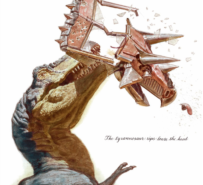 Awesome Paleoart  Tyrannosaur%2Brips%2Bloose%2Bhead