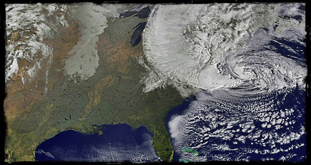 Hurricane Sandy from NASA satellite