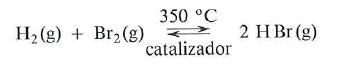 reaccion del hidrogeno con bromo