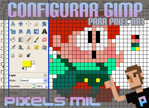 Configurar Gimp para Pixel art : Tutorial de Pixels Mil