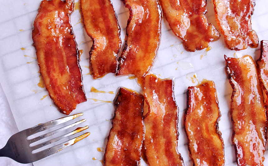 maple glazed candies bacon