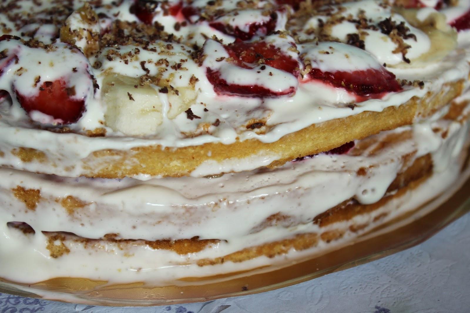 Бисквитный торт с ягодами пошаговый рецепт с