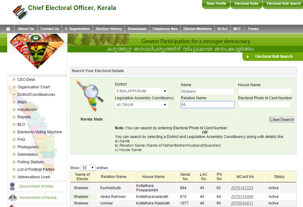 Chief Electoral Officer Kerala