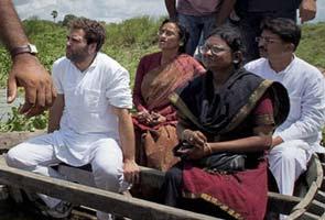 rahul gandhi in a boat