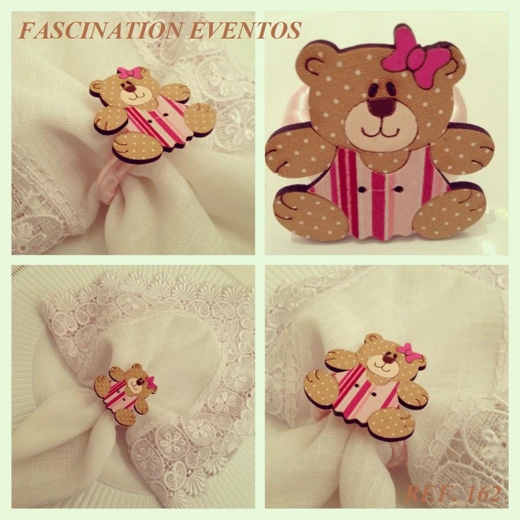 festa de ursinha rosa porta-guardanapos