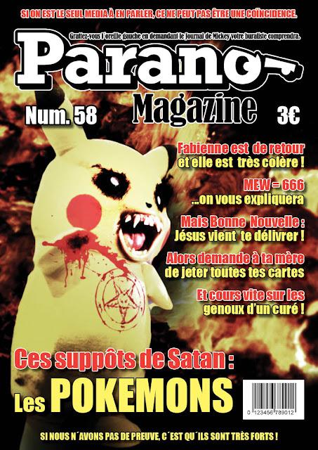Les Pokemon sont demoniaques Parano-magazine_COVER58