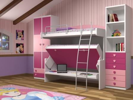 Camas abatibles en madrid camas abatibles toledo litera - Habitaciones en espacios reducidos ...
