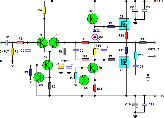 60 watt audio power amplifier circuit project60 watt mosfet audio power amplifier circuit diagram
