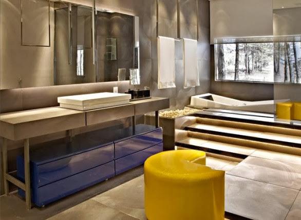Banheiros com Banheiras! 30 Modelos maravilhosos!  Decor Salteado  Blog de  -> Banheiro Com Banheira E Televisao