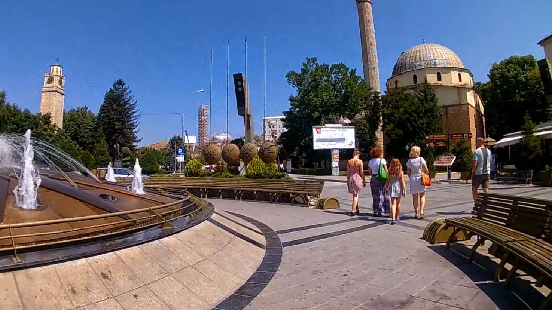 Bitola. Macedonia. Rynek z meczetem