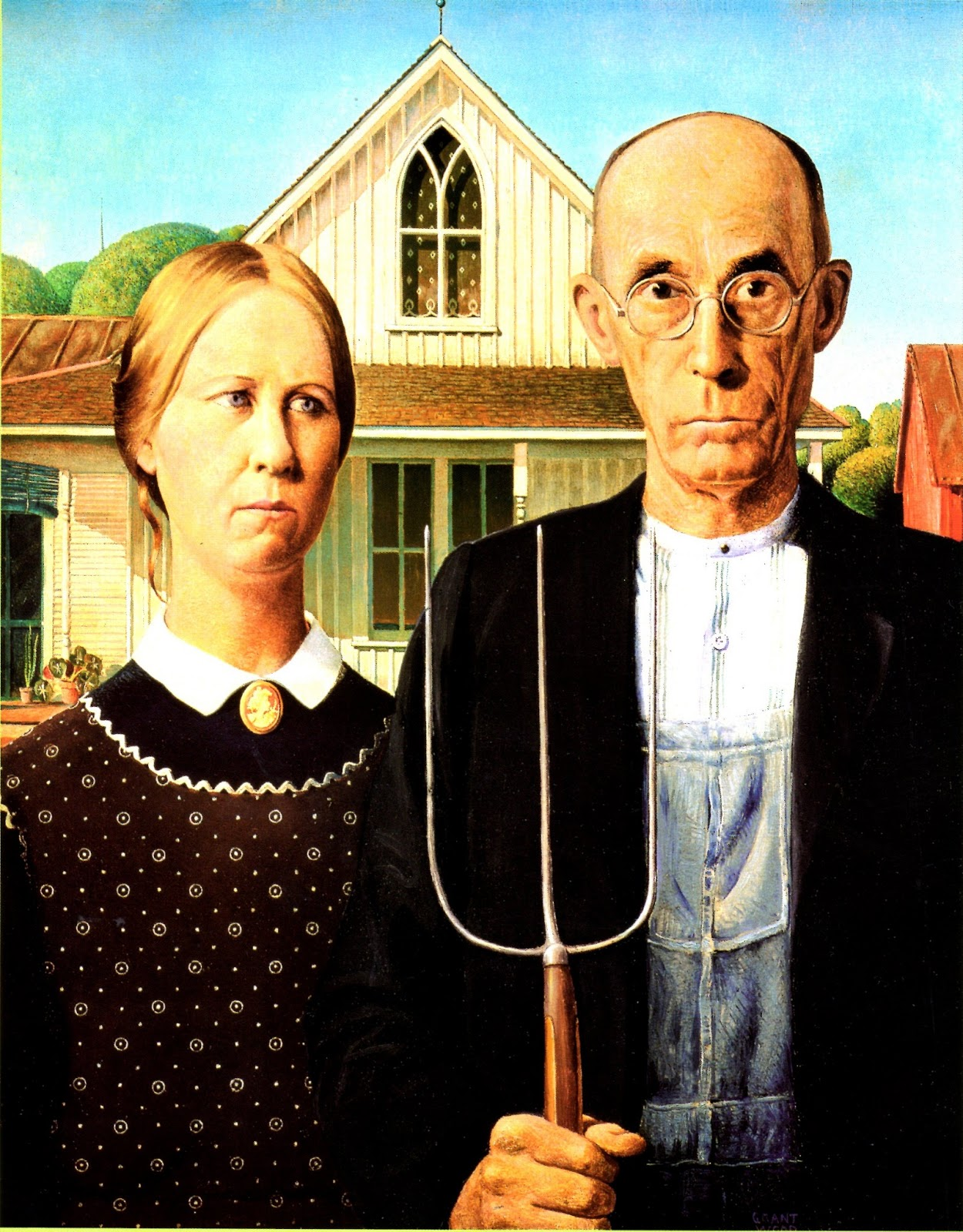 American Gothic Grant Wood Textes 224 Tout Vent