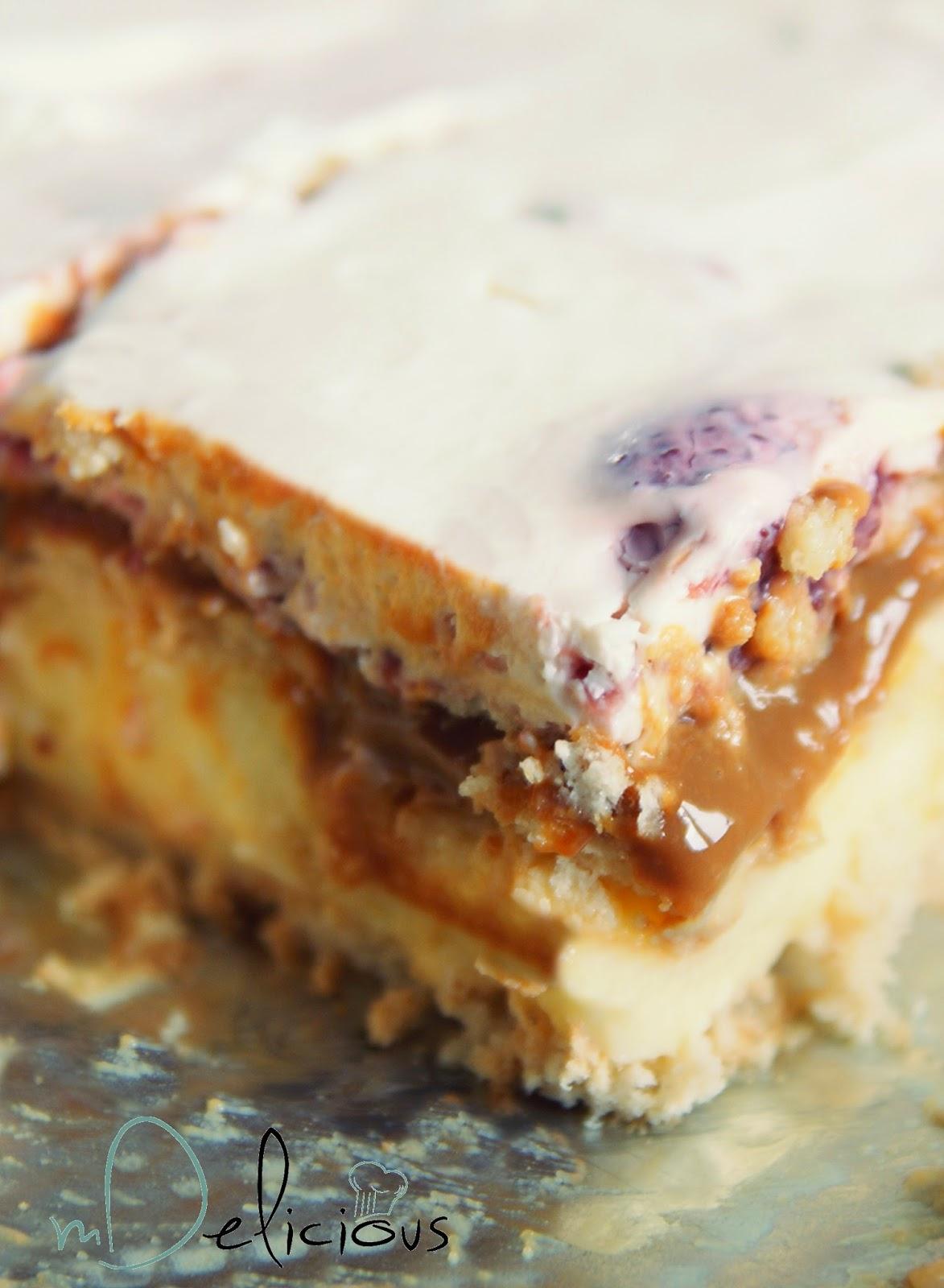 kajmak przepis, ciasto kajmakowe, masa krówkowa, ciasto krówka, ciasto z krówką, przepis bez pieczenia