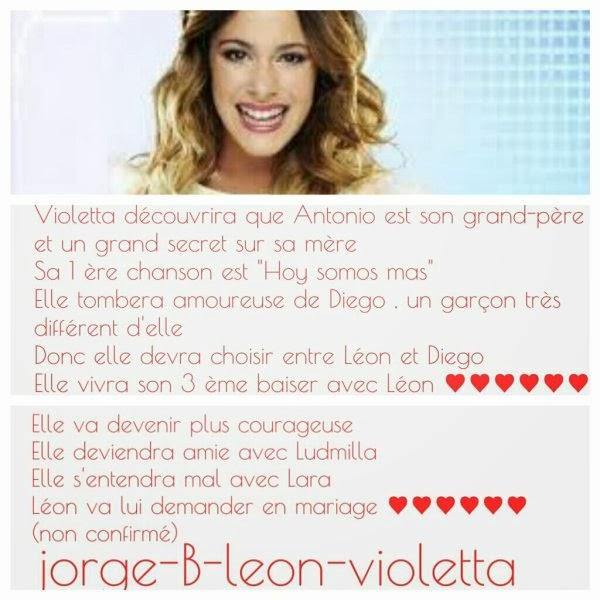 Violetta un article sur violetta - Violetta personnage ...
