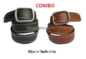 skyways-suave-casual-black-and-brown-belt-combo