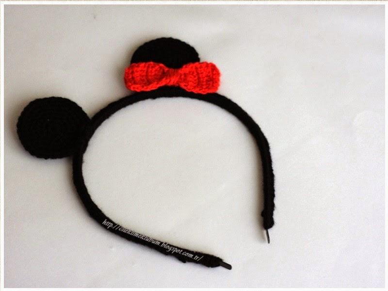 crochet, dıy, DIY, handmade, kendin yap, minniemouse, tığişi, Minniemouseheadband, tığ işi, taç, el işi, handmade, kırmızı, minnie, minnie mouse aksesuar, minnie mouse taç, örgü, tığ işi minnie mouse taç yapımı