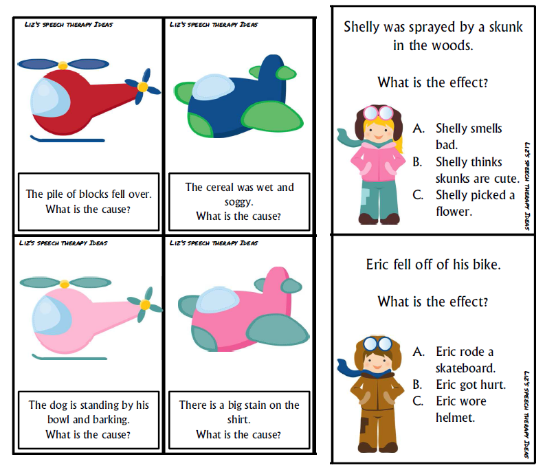 Liz 39 s speech therapy ideas flying for cause and effect - Wit ceruse effect ...