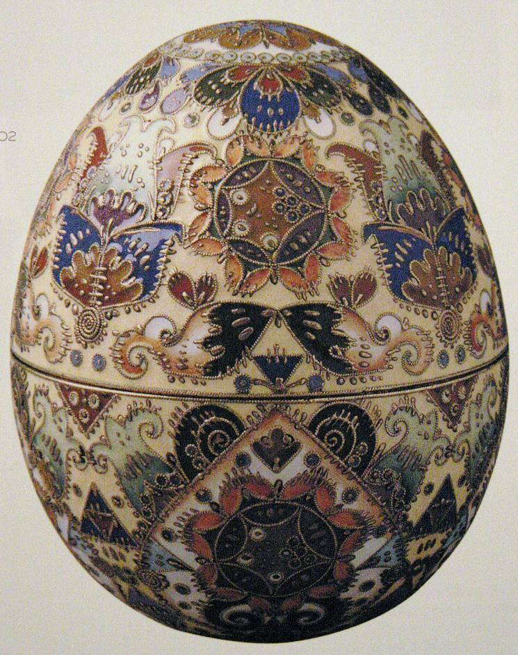 Russian Easter Eggs Coloring Pages. Less grand versions of the Imperial Easter eggs  where this one uses only enamels Marie Poutine s Jewels Royals Faberg Eggs