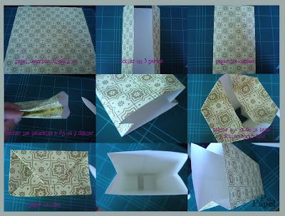Con p de papel diy bolsa papel - Hacer bolsas de papel para regalo ...