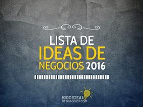 Lista de Ideas de Negocios