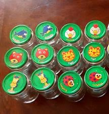 Gerber baby food lids (recycled) Matching Game!