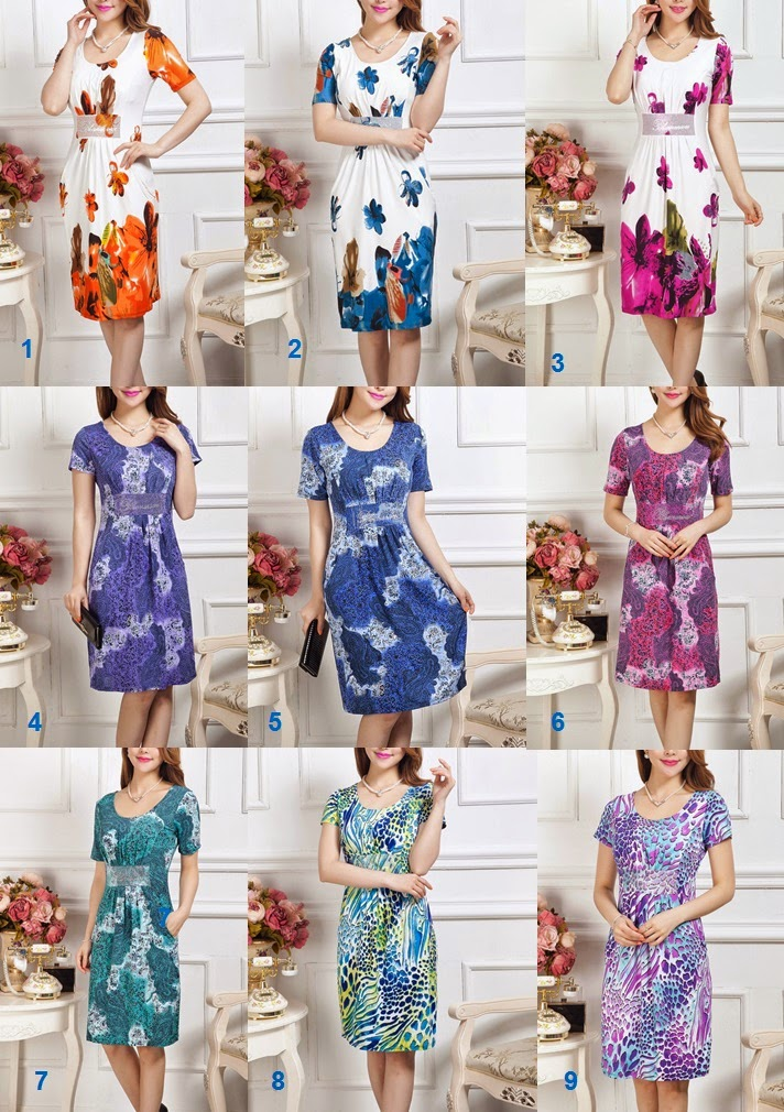 Sparkle Waist Ice Silk Dress