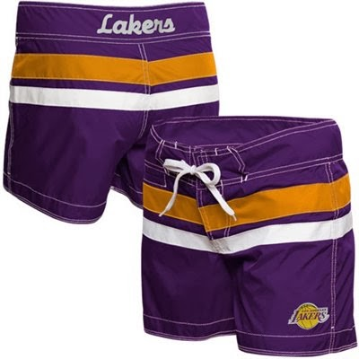 Los Angeles Lakers NBA Ladies Micro Twill Boardshorts