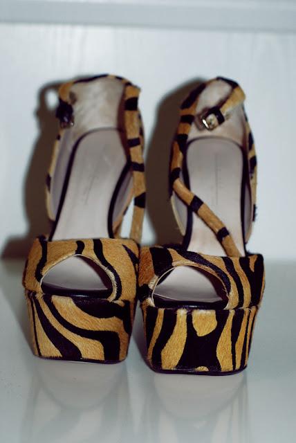 zara, tiger, tygrysie, buty, lookbook