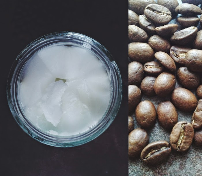 cocos oil, coffee beans