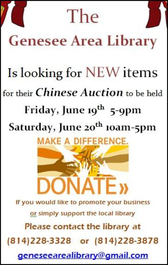 6-19/20 Chinese Auction Items
