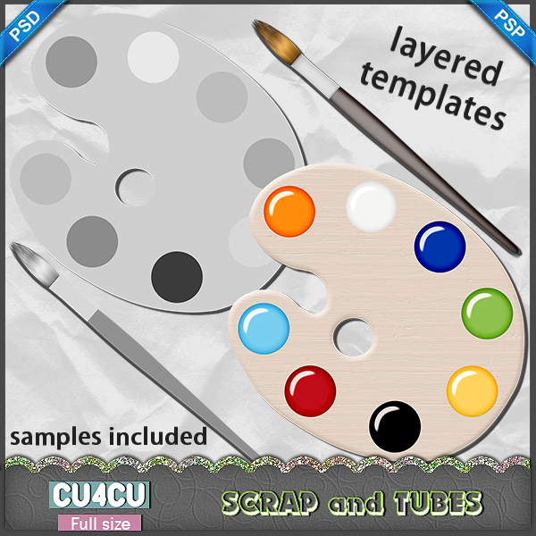 Paint Palette Template (FS/CU4CU) .Paint+Palette+Template_Preview_S+and+T
